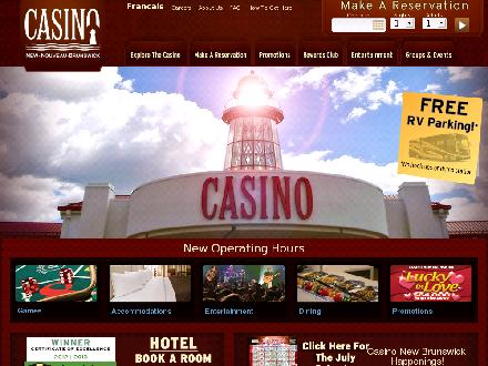 Casino New Brunswick (506-859-7770) - Onglet de site Web - http://www.casinonb.ca