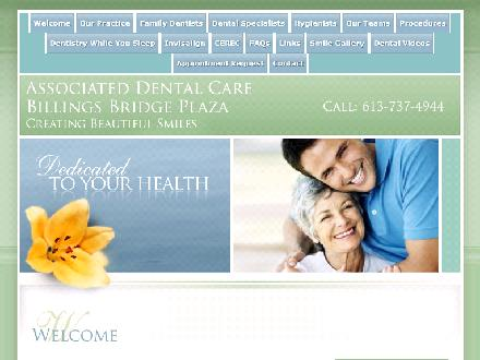 Associated Dental Care (613-737-4944) - Website thumbnail - http://www.adcottawa.com