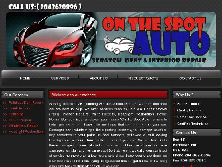On The Spot Auto Scratch Dent & Interior Repair (1-866-267-3209) - Onglet de site Web - http://www.onthespotautodent.com