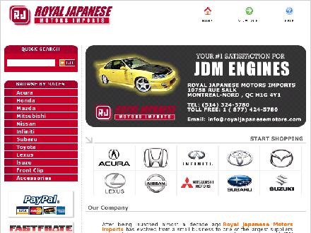 Royal Japanese Motors (514-324-5780) - Onglet de site Web - http://www.royaljapanesemotors.com