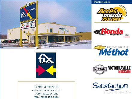 Fix Auto Victoriaville (819-758-3000) - Onglet de site Web - http://www.fixautovictoriaville.com/