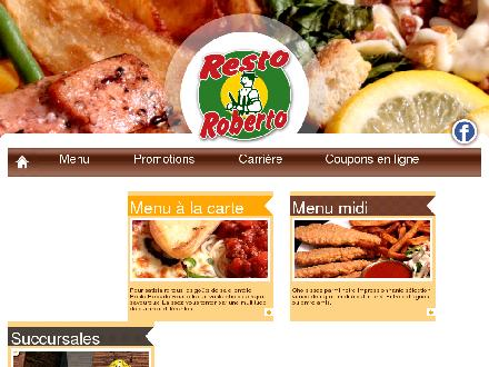 Resto Roberto (418-695-1555) - Website thumbnail - http://www.restoroberto.com/