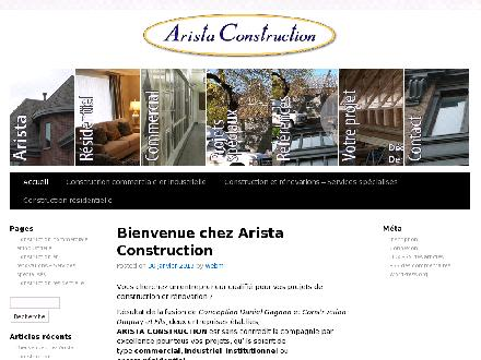 Arista Construction (514-382-7306) - Onglet de site Web - http://www.arista-construction.com
