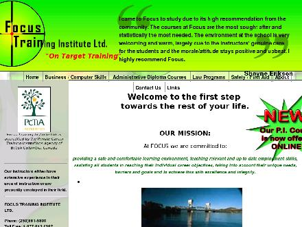 Focus Training Institute Ltd (250-861-5808) - Onglet de site Web - http://www.focus-on-line.com