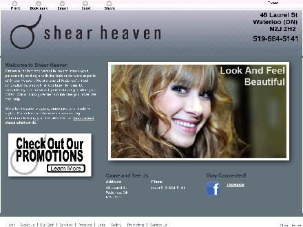 Shear Heaven (519-884-5141) - Website thumbnail - http://shearheavensalon.ca/