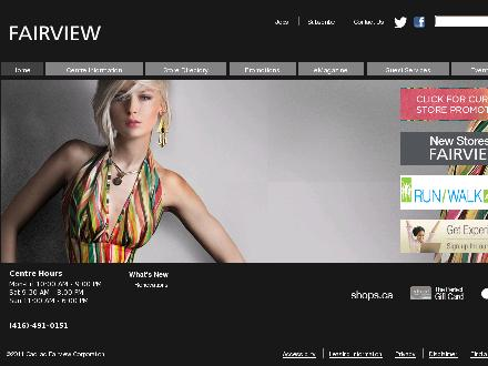 Fairview Mall (416-491-0151) - Onglet de site Web - http://www.fairviewmall.ca
