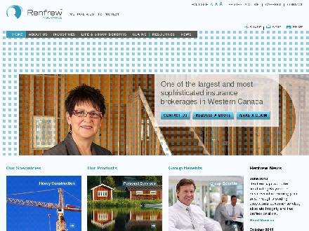 Renfrew Insurance Ltd (403-299-1000) - Website thumbnail - http://www.renfrew-insurance.com