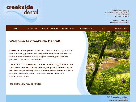 Creekside Dental (204-338-7958) - Onglet de site Web - http://www.mycreekside.ca