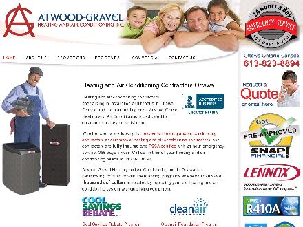Atwood-Gravel Heating & Air Conditioning (613-823-8894) - Onglet de site Web - http://www.atwoodgravel.com