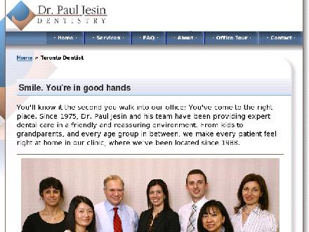 Jesin Paul M Dr (416-221-6333) - Onglet de site Web - http://www.drpauljesin.ca/