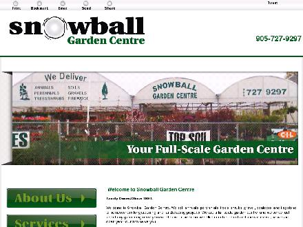 Snowball Garden Centre & Mini Bins (905-727-9297) - Onglet de site Web - http://snowballgardencentre.ca/