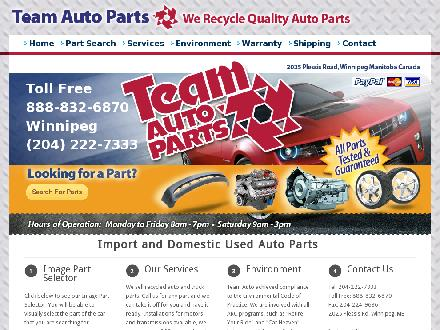 Team Autoparts Ltd (204-222-7333) - Website thumbnail - http://www.teamauto.mb.ca