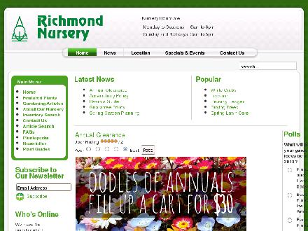 Richmond Nursery Inc (613-838-2282) - Onglet de site Web - http://www.richmondnursery.com