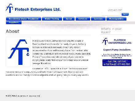 Flotech Enterprises Ltd (709-747-7310) - Website thumbnail - http://www.flotechenterprises.com