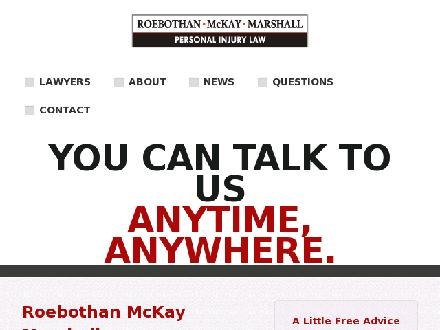 Roebothan McKay Marshall (709-701-2358) - Onglet de site Web - http://www.makethecall.ca