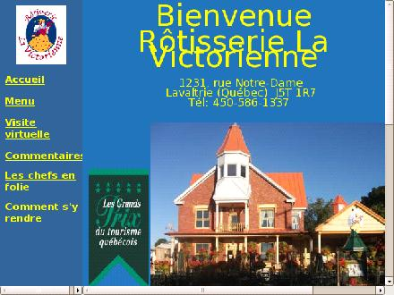 R&ocirc;tisserie La Victorienne (450-586-1337) - Website thumbnail - http://www.lavictorienne.ca