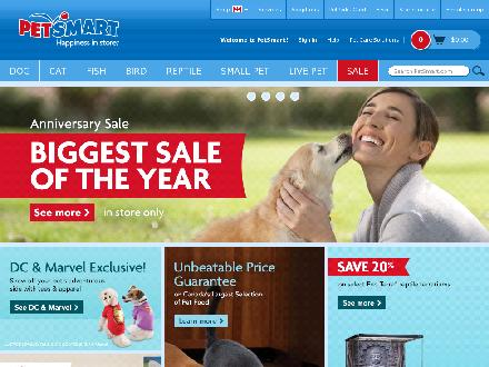 Petsmart.com - Onglet de site Web - http://www.petsmart.com