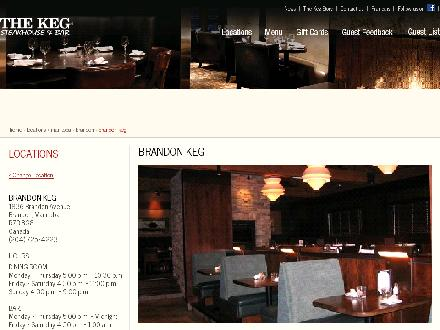 Keg Steakhouse & Bar (506-386-4534) - Onglet de site Web - http://www.kegsteakhouse.com/en/locations/MB/brandon/brandon-keg/