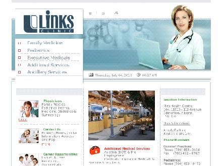 Links Clinic Ltd (780-454-0351) - Onglet de site Web - http://www.linksmedicalclinic.com