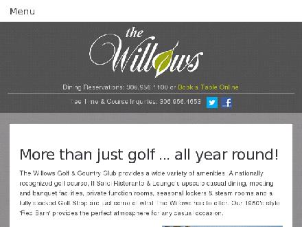 The Willows (306-956-1100) - Website thumbnail - http://www.willowsgolf.com
