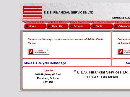 EES Financial Services Ltd (905-471-1337) - Onglet de site Web - http://www.ees-financial.com