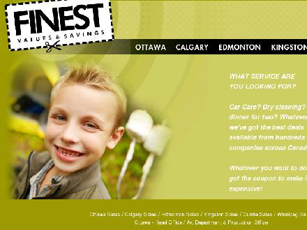 Finest Values & Savings Inc (780-966-2434) - Onglet de site Web - http://www.finestvalues.com