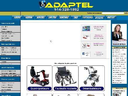Adaptel Fauteuils Roulants (514-725-6144) - Website thumbnail - http://www.adaptel.ca