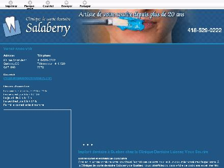 Clinique de Santé Dentaire et d'Implantologie Salaberry (418-529-0222) - Website thumbnail - http://santedentairesalaberry.ca/