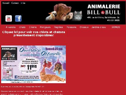 Animalerie Bill & Bull (418-831-8029) - Onglet de site Web - http://www.billetbull.com