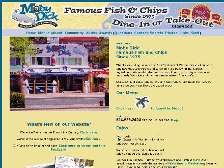 Moby Dick Restaurant (604-536-2424) - Website thumbnail - http://www.mobydickrestaurant.com