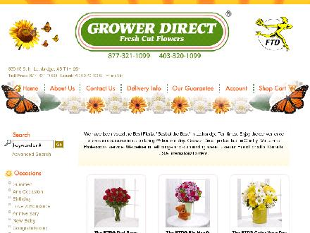 Grower Direct Fresh Cut Flowers (403-320-1099) - Website thumbnail - http://www.growerdirectfreshflowers.com