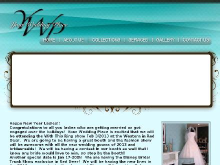 Your Wedding Place Ltd (403-340-0808) - Website thumbnail - http://www.yourweddingplace.ca