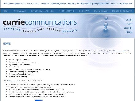 Currie Communications Ltd (780-413-9570) - Website thumbnail - http://www.curriecom.com