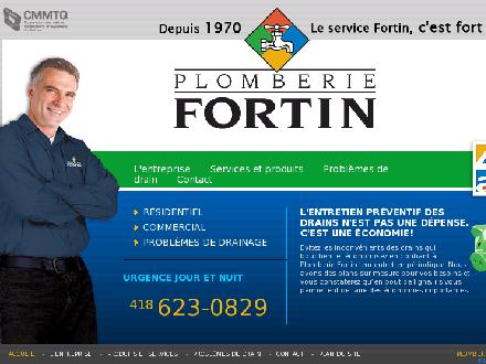 Plomberie Fortin (418-623-0829) - Website thumbnail - http://www.plomberiefortin.com