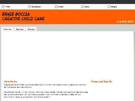 Ernie Boccia Creative Child Care (416-653-6305) - Website thumbnail - http://creativechilddaycare.ca/
