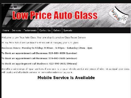 Low Price Auto Glass (613-890-3631) - Website thumbnail - http://www.lpag.ca