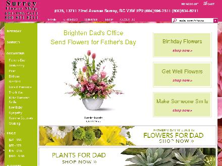 Surrey Flower Shop (604-596-7511) - Website thumbnail - http://www.surreyflowershop.net