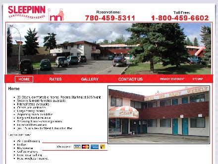 Sleep-Inn Motel (780-459-5311) - Onglet de site Web - http://www.sleepinnmotel.ca