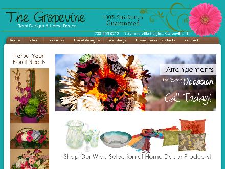 Grapevine Floral Design & Home Decor The (709-466-0212) - Onglet de site Web - http://thegrapevinefloraldesigns.com/