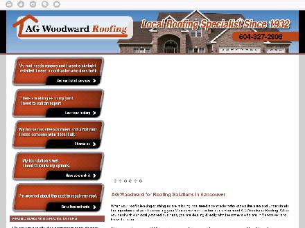 AG Woodward Roofing (604-696-3287) - Website thumbnail - http://agwoodwarddrainage.ca/