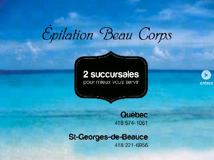 Epilation Beau Corps (418-574-1061) - Onglet de site Web - http://www.epilationbeaucorps.com