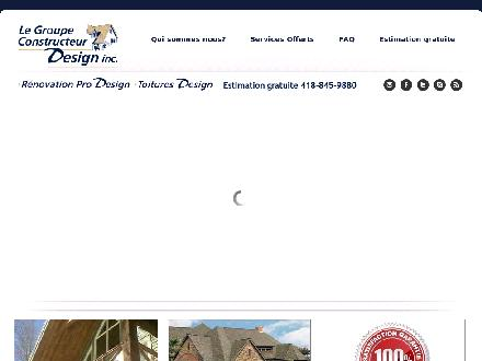 Le Groupe Constructeur Design Inc (418-845-9880) - Website thumbnail - http://www.groupeconstructeurdesign.com