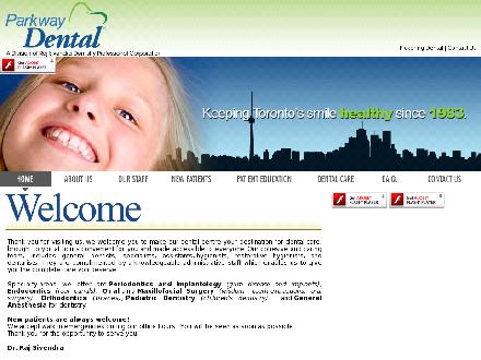 Parkway Mall Dental Office (416-441-2565) - Website thumbnail - http://www.parkwaydental.ca