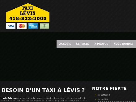 Taxi Rive-Sud L&eacute;vis (418-833-3000) - Website thumbnail - http://www.taxilevis3000.com