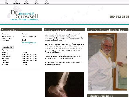 Kelowna Podiatry Group (250-762-3325) - Onglet de site Web - http://drrichardsnowsell.ca/