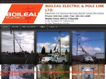 Boileau Electric & Pole Line Ltd (604-462-1688) - Website thumbnail - http://www.BoileauElectric.com
