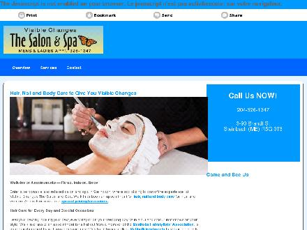 Visible Changes The Salon & Spa (204-326-1347) - Website thumbnail - http://visiblechangessalon.ca