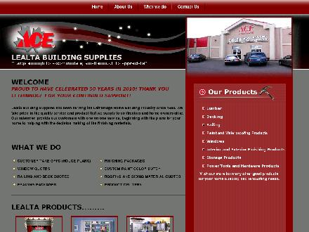 Lealta Building Supplies (403-328-3031) - Website thumbnail - http://lealtabuildingsupplies.net/