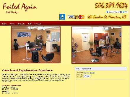 Foiled Again Hair & Massage Studio (506-389-9634) - Onglet de site Web - http://www.foiledagain.ca/