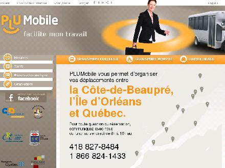 Plumobile Organisateur de déplacements (418-827-8484) - Website thumbnail - http://www.plumobile.ca